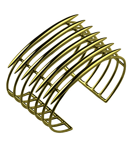 SHAUN LEANE Grid silver and rose-gold vermeil quill cuff