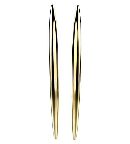 SHAUN LEANE 弯曲纯银和金文梅尔耳环