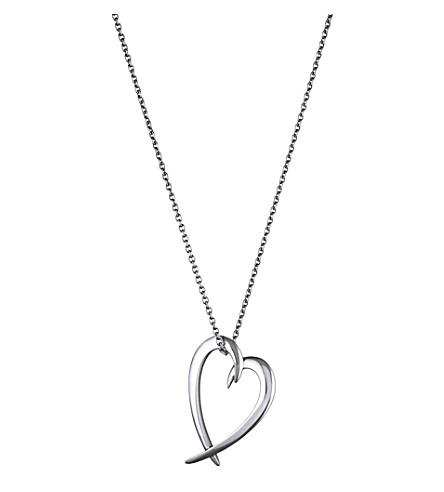 SHAUN LEANE Heart sterling silver pendant