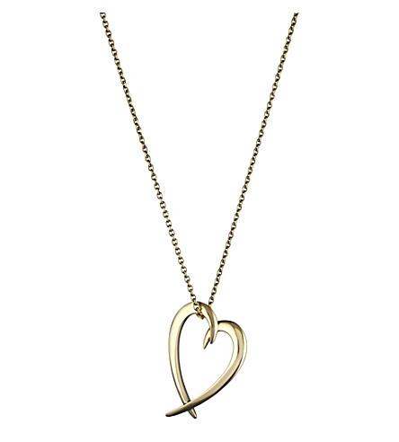 SHAUN LEANE Heart silver yellow-gold vermeil pendant