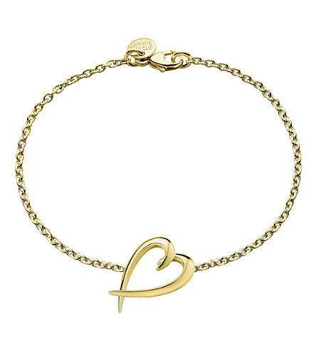 SHAUN LEANE Signature yellow-gold vermeil heart bracelet
