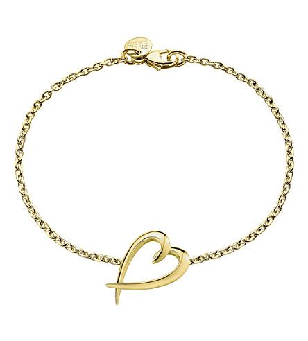 SHAUN LEANE Signature yellow-gold vermeil heart bracelet