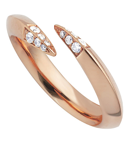 SHAUN LEANE Signature wrap rose gold vermeil and diamond ring