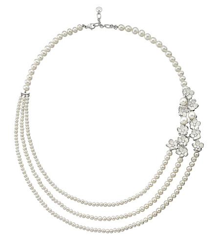 SHAUN LEANE Rose gold Cherry Blossom diamond necklace