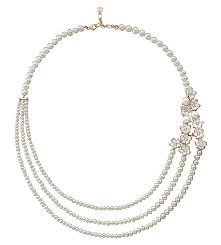 SHAUN LEANE Rose gold Cherry Blossom diamond necklace