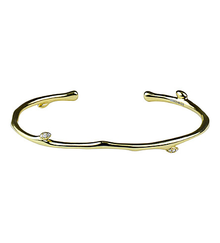 SHAUN LEANE Yellow gold vermeil diamond bangle