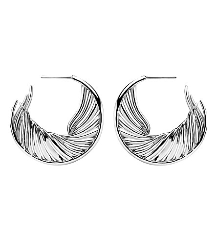 SHAUN LEANE White Feather sterling silver earrings