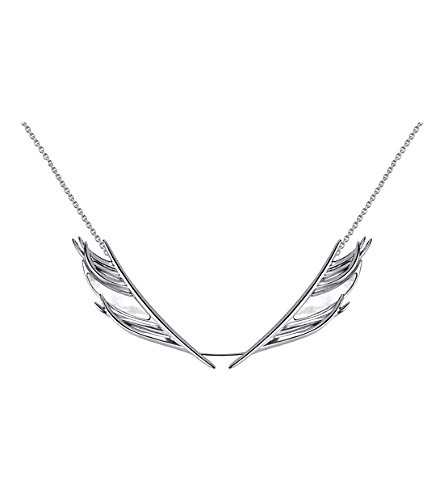 SHAUN LEANE White Feather silver and mother-of-pearl necklace