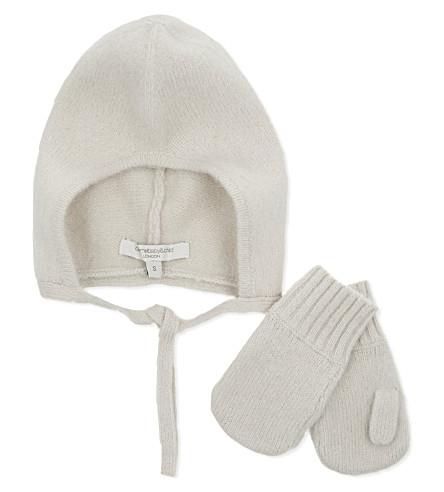 CARAMEL Aloe wool hat and mittens gift set 3-18 months (Nougat