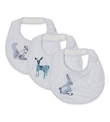 CARAMEL Animal print bibs set 3-6 months (Wild+animals