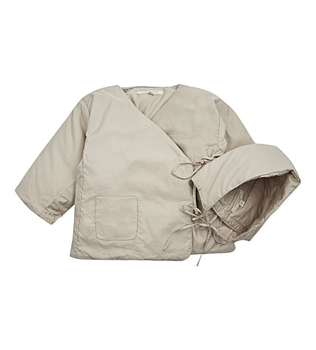CARAMEL Padded coat 6-18 months (Soft grey