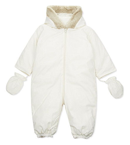 CARAMEL Down filled snowsuit 6-18 months (Cream