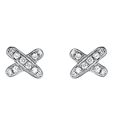 CHAUMET Liens 18ct white-gold and diamond earrings