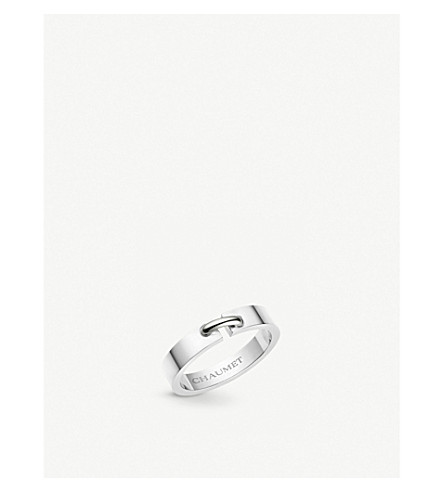 CHAUMET Liens 18ct white-gold wedding band