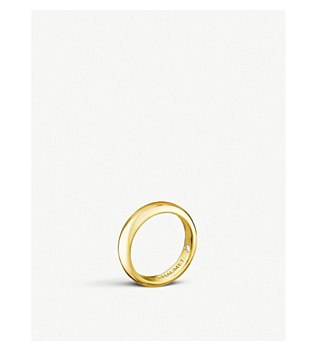 CHAUMET Fidélité 18ct yellow-gold and diamond wedding band