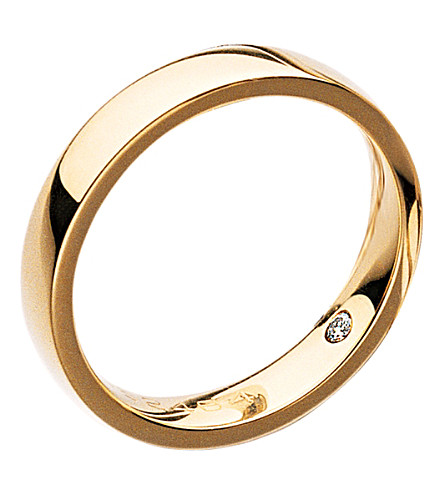 CHAUMET Les Eternelles Rubans 18ct yellow-gold secret diamond wedding band