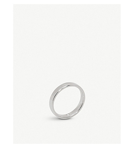 CHAUMET Plume platinum secret diamond wedding band