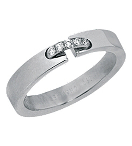 CHAUMET Liens Evidence 18ct white gold and diamond wedding band