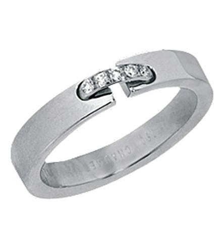 CHAUMET 留置权证据18ct 白金钻石婚宴乐队