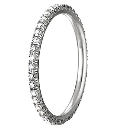 CHAUMET 18ct white-gold and diamond stackable wedding band