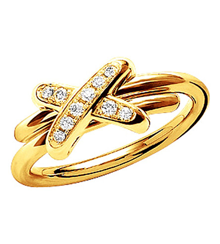 CHAUMET Premiers Liens de Chaumet 18ct yellow-gold and diamond ring