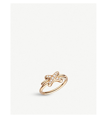 CHAUMET Premiers Liens de Chaumet 18ct rose-gold and diamond ring
