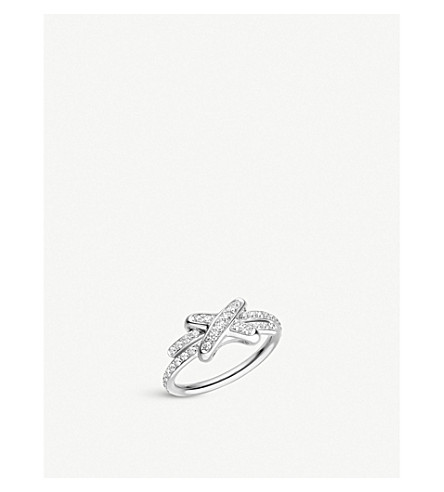 CHAUMET Jeux de Liens 18ct white-gold and diamond ring