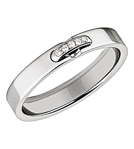 CHAUMET Liens XXS platinum diamond-set wedding band