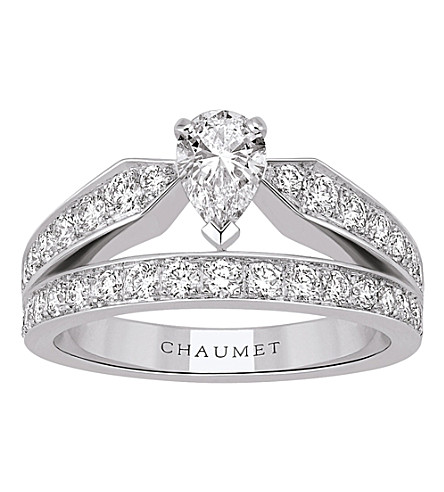 CHAUMET Joséphine 18ct white-gold and diamond tiara ring