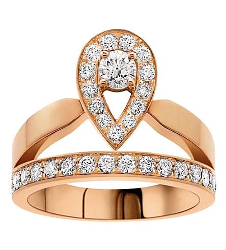 CHAUMET Joséphine 18ct rose-gold and diamond tiara ring