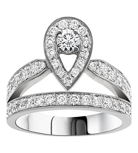 CHAUMET Joséphine 18ct white-gold and diamond tiara ring
