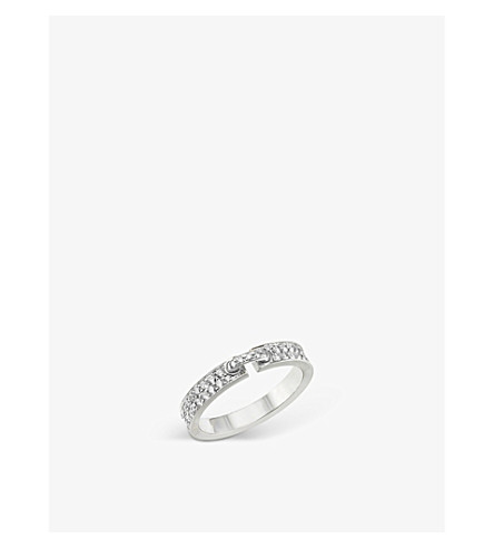 CHAUMET Liens Evidence18 K 白金钻石婚礼戒环