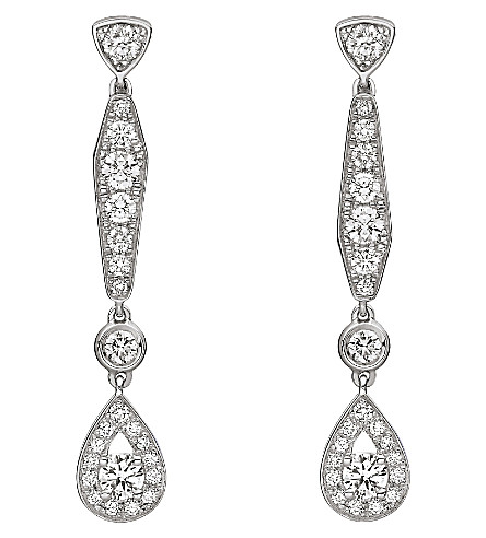CHAUMET Joséphine 18ct white-gold diamond earrings