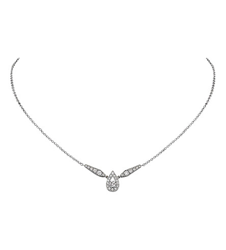 CHAUMET Joséphine 18ct white-gold diamond pendant