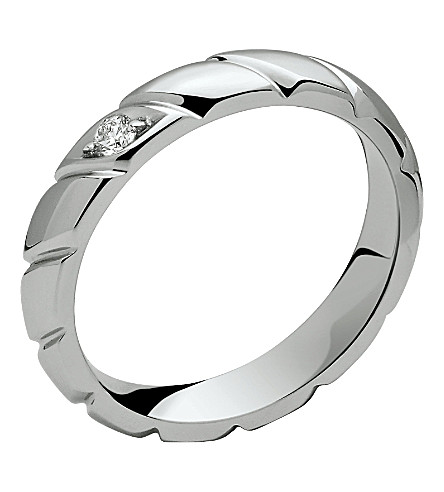 CHAUMET Torsade de Chaumet platinum diamond-set wedding band