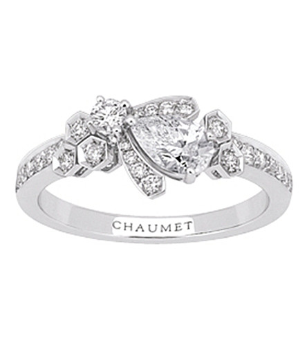 CHAUMET Bee My Love 18ct white-gold and diamond ring
