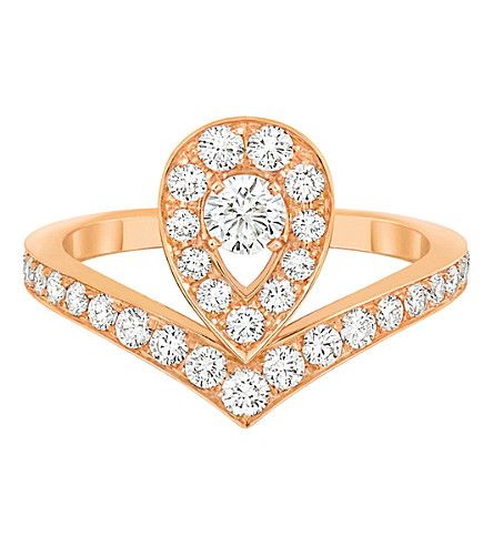 CHAUMET Joséphine Aigrette Tiara 18ct rose-gold and diamond ring