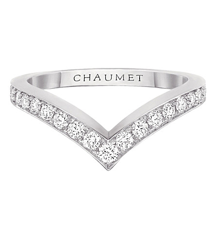 CHAUMET Joséphine Aigrette 18ct white-gold and diamond ring