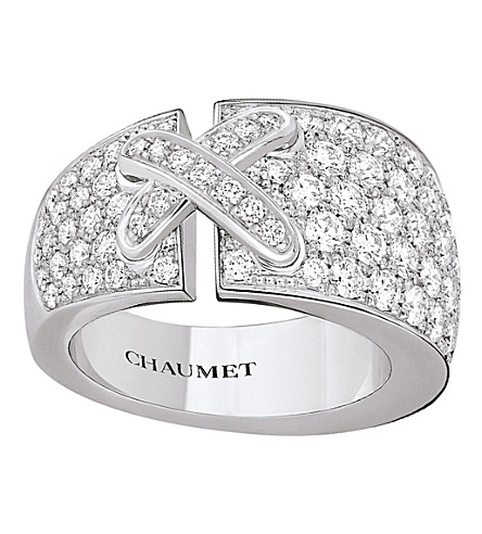 CHAUMET Liens rhodium-plated white-gold and diamond ring
