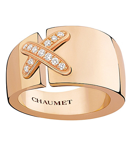 CHAUMET Liens 18ct rose-gold and diamond ring