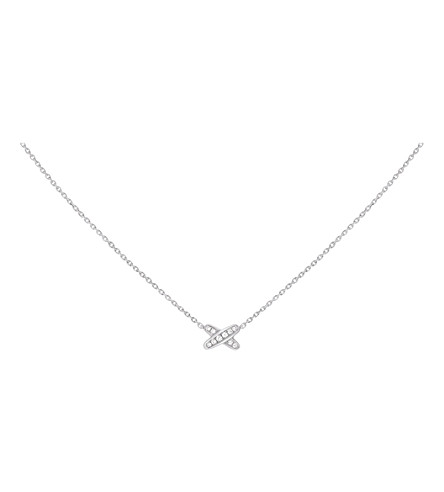 CHAUMET Premiers Liens 18ct white-gold diamond pendant