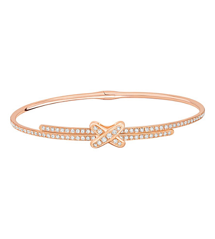 CHAUMET Jeux de Liens 18ct pink-gold and diamond bracelet