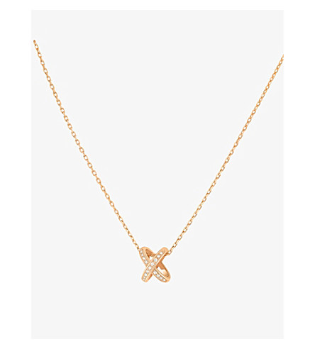 CHAUMET Premier liens 18ct pink-gold and diamond pendant necklace