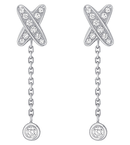 CHAUMET Premiers liens 18ct white-gold and diamond earrings