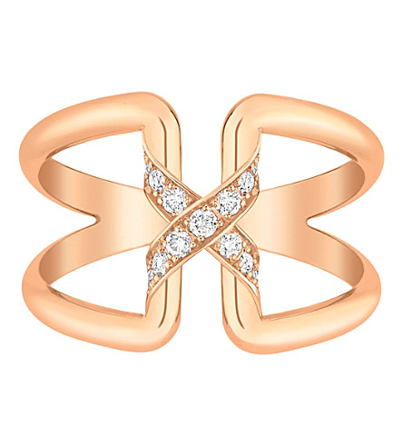 CHAUMET Liens de Chaumet 18ct rose-gold and diamond ring