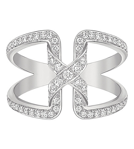 CHAUMET Liens de Chaumet 18ct rhodium-plated white-gold and diamond ring