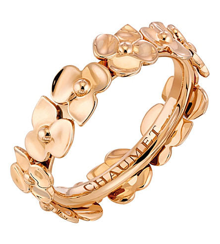 CHAUMET Hortensia 18ct rose-gold band ring
