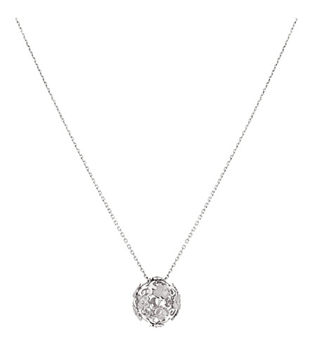 CHAUMET Hortensia 18ct white-gold ball pendant necklace