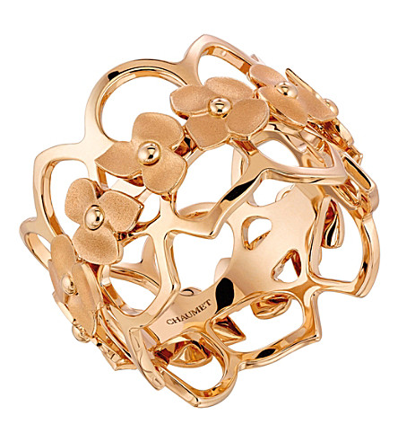 CHAUMET Hortensia 18ct rose-gold bandeau ring