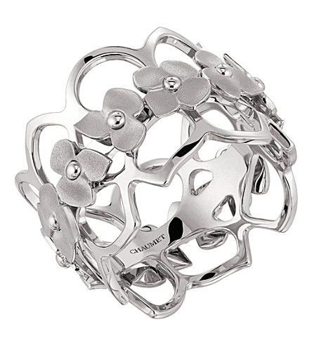 CHAUMET Hortensia 18ct white-gold bandeau ring